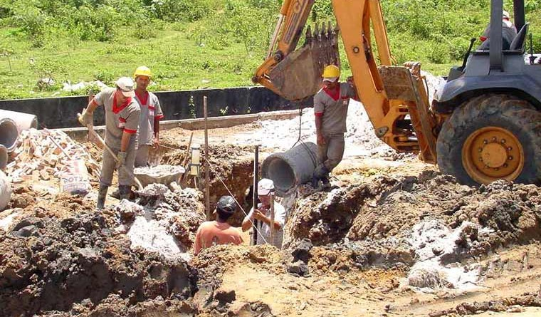 Capucho recebe obras de drenagem nos canais