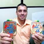 Atleta da Guarda Municipal conquista medalhas no Brasil Open 2003 de taekwondo - Foto: Wellington Barreto  AAN  Clique na foto e amplie