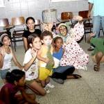 Crianças do Grageru solicitam campanha de arrecadação de livros durante o OP Mirim - Fotos: Abmael Eduardo  AAN  Clique na foto e amplie
