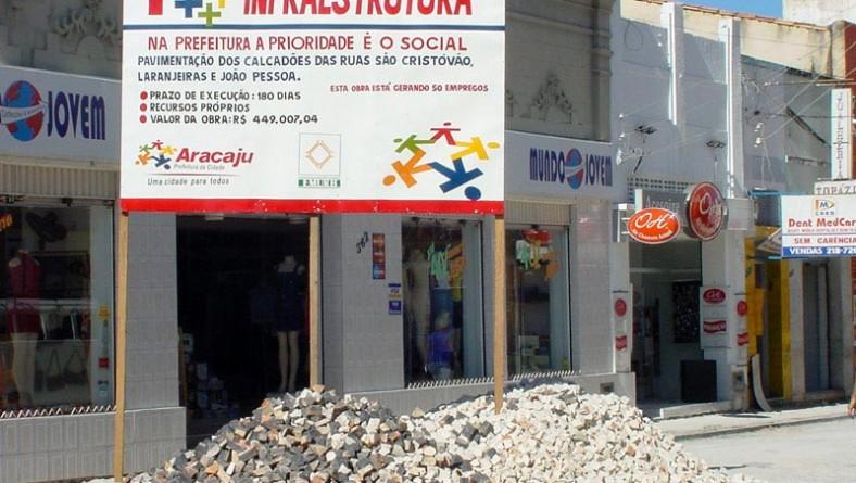 Reforma dos calçadões tem agradado a população aracajuana