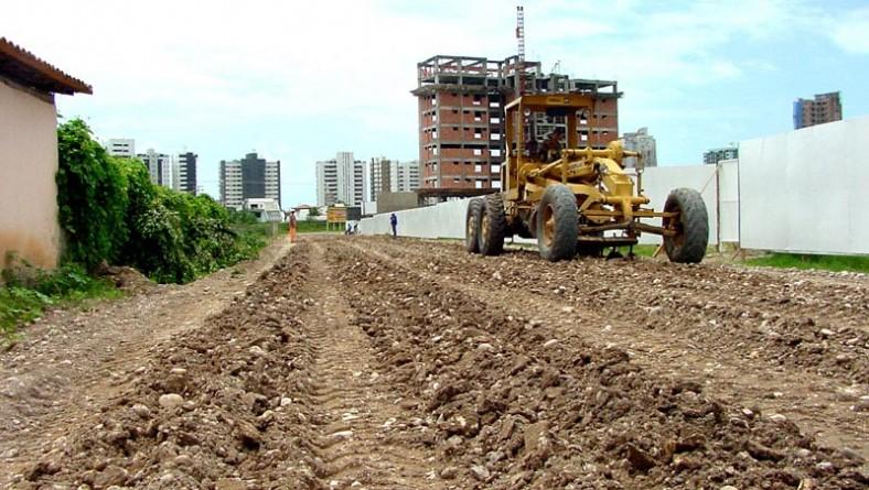 Obra na rua Lourival Chagas fará ligação entre a rua Wilson Rocha e avenida Pedro Valadares