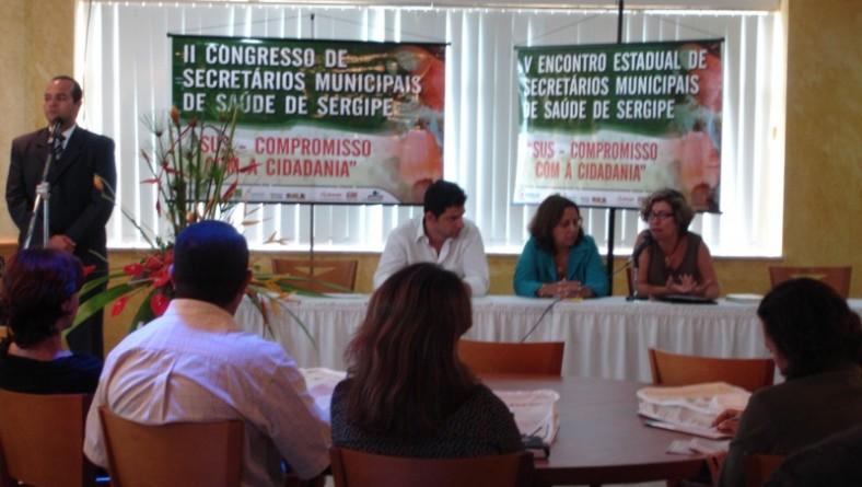 Saúde Municipal participa do II Congresso de Secretários Municipais de Saúde de Sergipe
