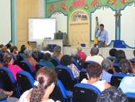 Idosos assistidos pela Semasc participam de palestra sobre saúde na terceira idade