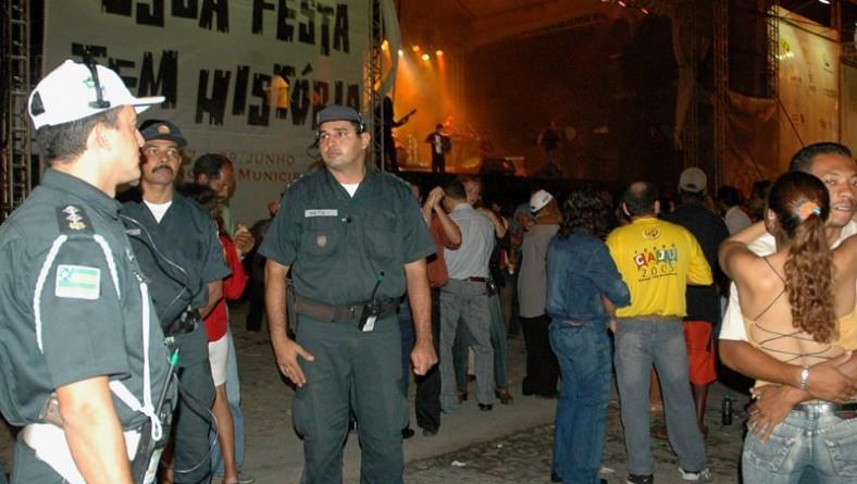Polícia Militar confirma tranqüilidade do Forró Caju 2005