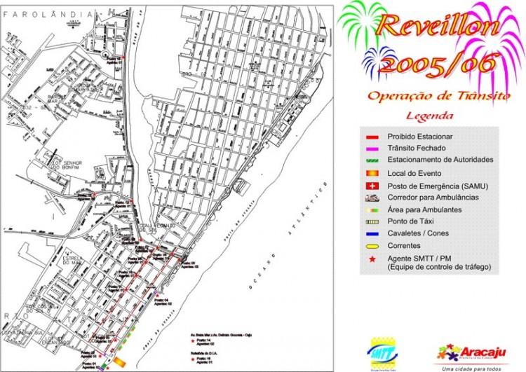 Trânsito e transporte terão esquema especial no reveillon da Prefeitura de Aracaju