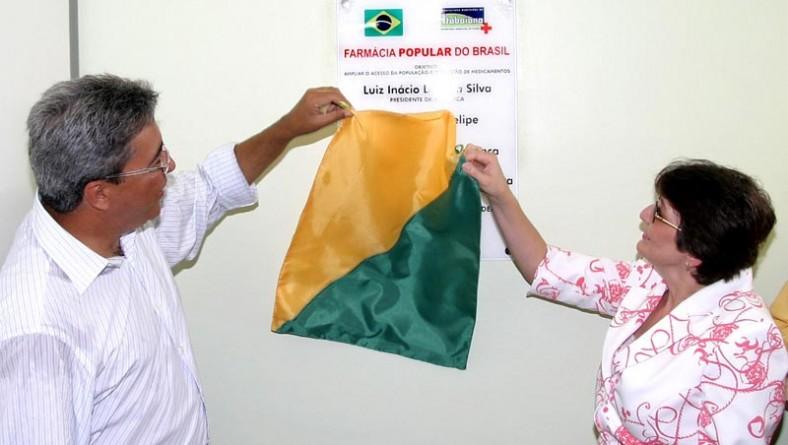 Prefeito participa da inauguração da Farmácia Popular do Brasil em Itabaiana