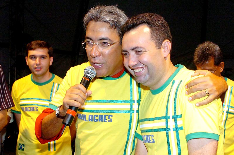 Resultado de imagem para foto de heleno silva com o prefeito edvaldo nogueira