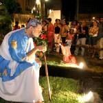 Anjos se apresentam até amanhã no presépio do Centro - Fotos: Wellington Barreto