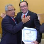 Déda prestigia entrega de título de cidadão sergipano ao gerente da BR - Foto: Márcio Dantas/ASN