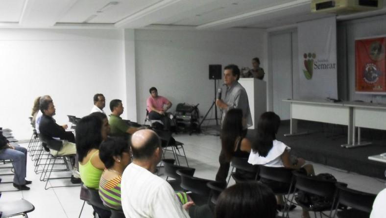 Servidores da Semarh participam de palestra sobre mudanças climáticas