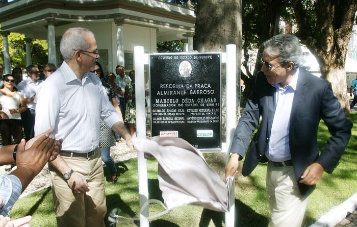 Governador Marcelo Déda inaugura Praça Almirante Barroso