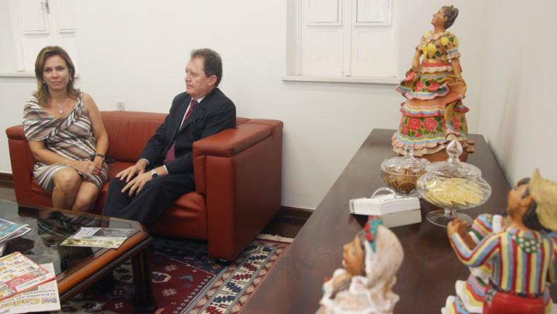 Governador recebe a visita do superintendente do Banco do Brasil em SE