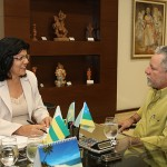 Governadora em exercício recebe deputado líder do governo -