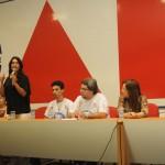 Secretária Eliane Aquino participa de encerramento do projeto Mídia Jovem -