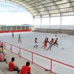População de Canindé satisfeita com quadra erguida pelo 'Sergipe Cidades' - Fotos: Ascom/Sedurb
