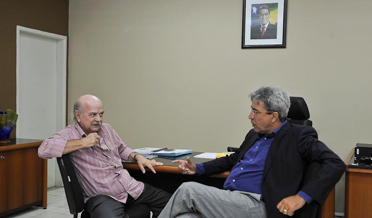Governador recebe o ator Harildo Déda