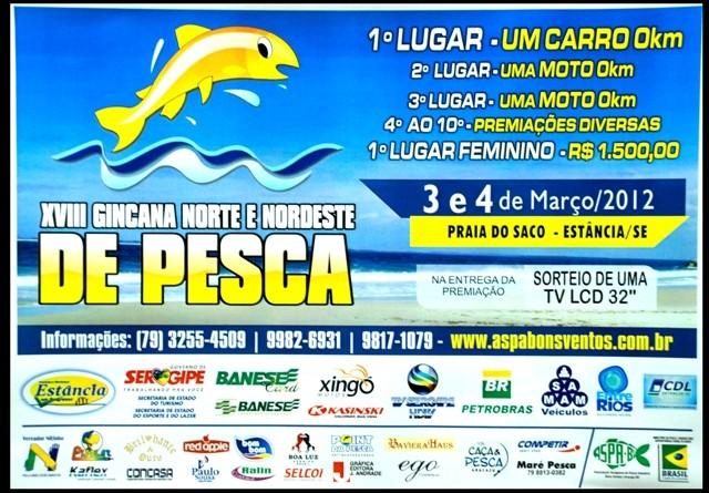 Litoral Sul de Sergipe sediará campeonato Norte/Nordeste de pesca
