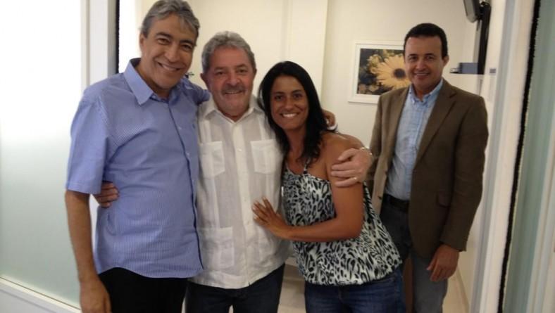 Déda recebe a visita de Lula em São Paulo