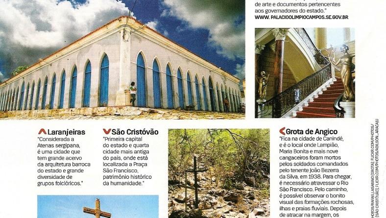 Sergipe é destaque em publicação nacional como ponto de turismo histórico