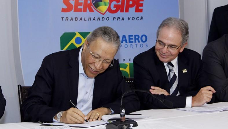 Déda e presidente da Infraero assinam acordo para construção do novo aeroporto de Aracaju