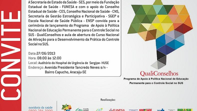 Saúde lança QualiConselhos