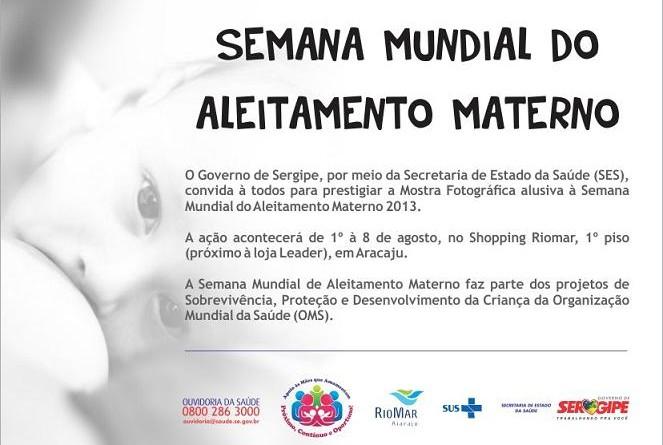 Exposição 'Aleitamento Materno' inicia nesta quinta, 1º, no Shopping Riomar