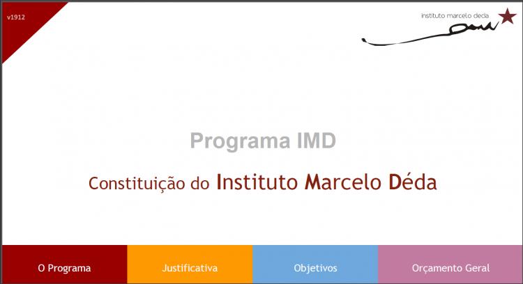 Reuniões de fundação do IMD