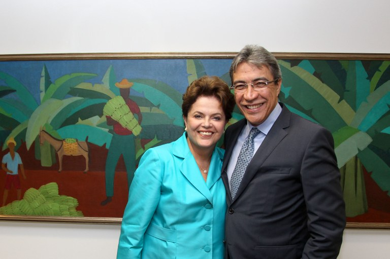 Déda e a Presidenta Dilma